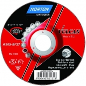 Зачистной диск Norton Vulcan INOX A30S BF27 125x6.4x22.23